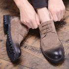 Lace-up Genuine Suede Wingtip Shoes