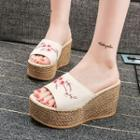 Embroidery Platform Sandals