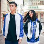 Couple Matching Panel Zip Jacket
