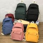 Plain Nylon Flap Backpack