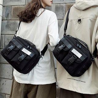 Couple Matching Pocket Detail Crossbody Bag Black - One Size