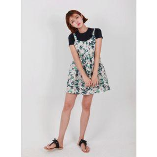 Sleeveless Floral A-line Mini Dress