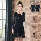 Lave Hem Plain Dress