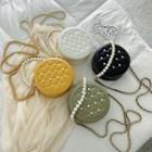 Faux Pearl Embellished Crossbody Bag