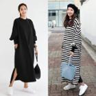 Side Slit Maxi Pullover Dress