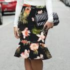 Ruffle Patterned Skirt