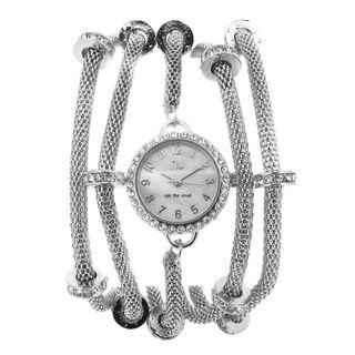 Multi-chain Crystal Watch One Size