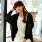 V-neck Cable-knit Cardigan
