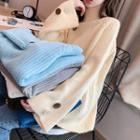 Buttoned Cuff Turtleneck Sweater