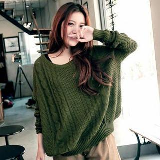 Loose-fit Cable-knit Sweater