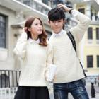 Couple Matching Cable-knit Sweater