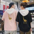 Couple Matching Elbow-sleeve Giraffe Print Hoodie
