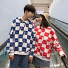 Couple Matching Check Hoodie