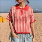 Patterned Short Sleeve Top
