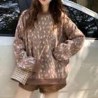 Round-neck Leopard Sweater