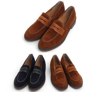 Faux-suede Loafers