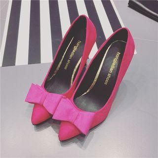 Bow Accent Pointed Pumps