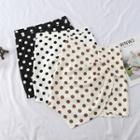 Asymmetric Dotted Mini Skirt