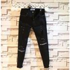 Slim-fit Studded Washed Jeans