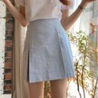 Balloon-sleeve Blouse / A-line Skirt