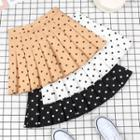 Dotted Pleated Mini Skirt