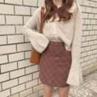 Plaid Tulip A-line Skirt