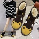 Animal Platform Ankle Snow Boots