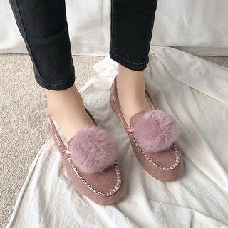 Furry Ball Loafers