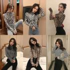 Patterned High-neck Top
