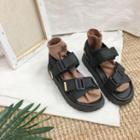 Buckled Strap Platform Sandals