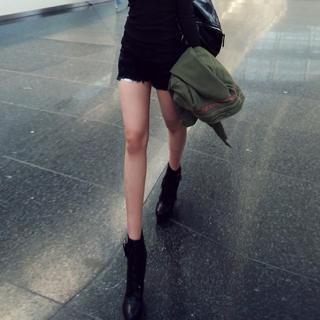 Fray-hem Shorts