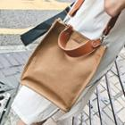 Canvas Plain Cross Bag With Pouch