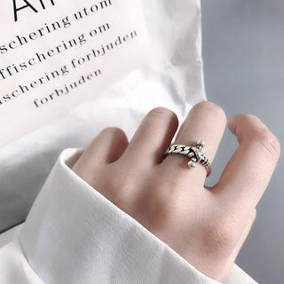 925 Sterling Silver Cross Ring 925 - As Shown In Figure - One Size