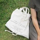 Drawstring Canvas Shopper Bag Ivory - One Size