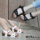 Buckled Wedge-heel Sandals