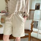 Drawcord Pleather Shorts
