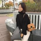 Boxy-fit Turtleneck Wide-sleeve Sweater