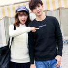 Couple Matching Lettering Sweater