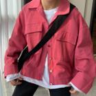 Cargo Buttoned Jacket Pink - One Size