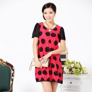 Short-sleeve Printed Dress