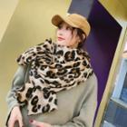 Leopard Scarf Leopard - Coffee - One Size