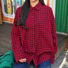 Pocket-front Gingham Cotton Shirt