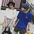 Couple Matching Embroidered Short-sleeve Polo Shirt