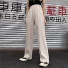 Drawstring-ham High-waist Pants