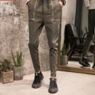 Drawstring Cropped Skinny Pants