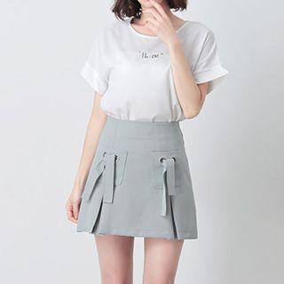 Plain A-line Mini Skirt