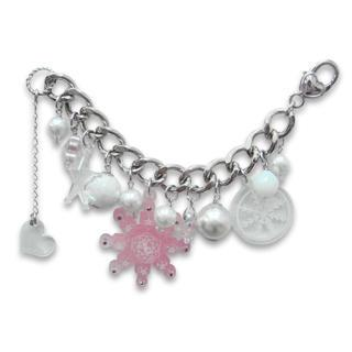 Sweet&co. Pink Snow Flurry Starlight Swarovski Crystal Bracelet