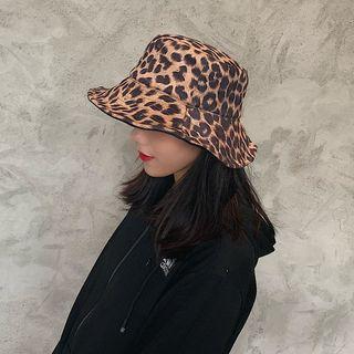 Leopard Print Bucket Hat Khaki - M