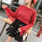 Fringe Sweater Red - One Size