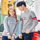 Couple Matching Number Print Sweater